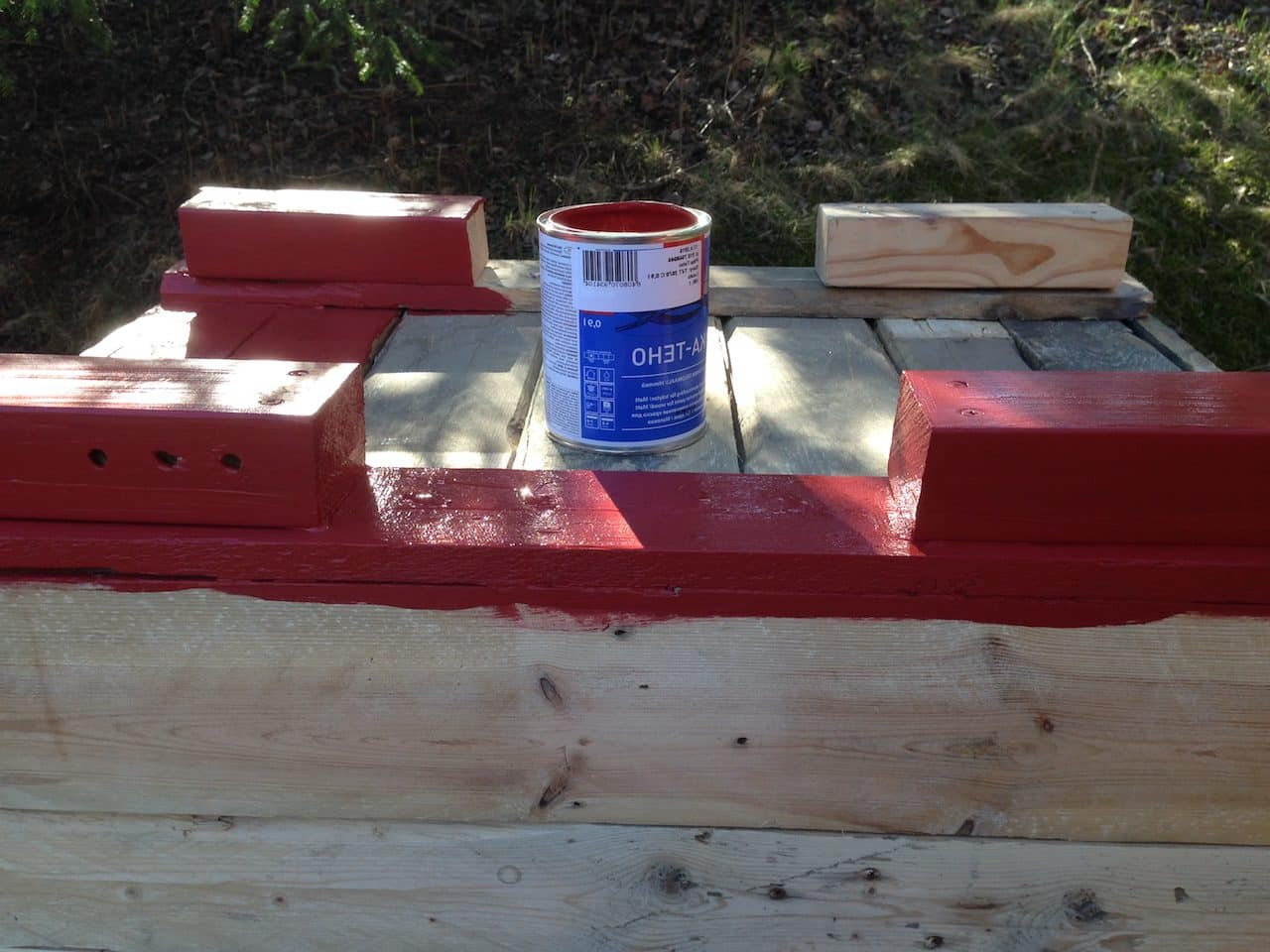 Painting a planter box